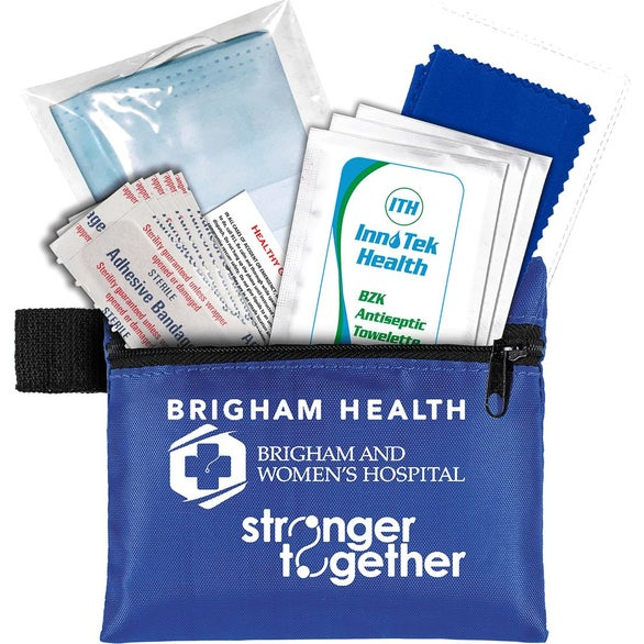 Blue Antiseptic and Protective Health Living Pack in Zipper Pouch