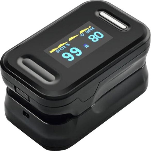 Black Fingertip Pulse Oximeter