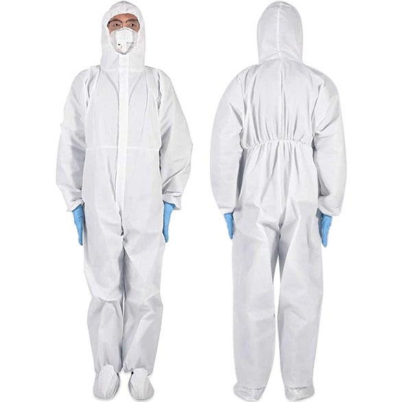White Medical Isolation Protective Clothing Without Sealer