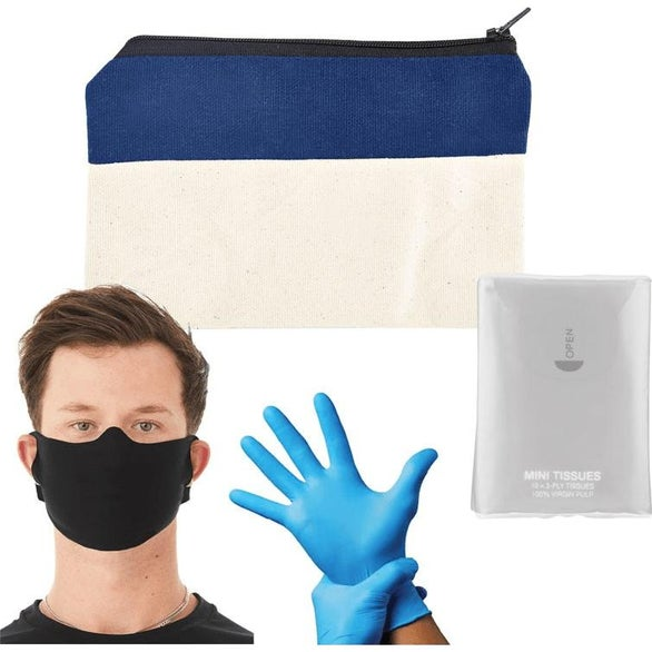 Navy Blue On-The-Go PPE Kit