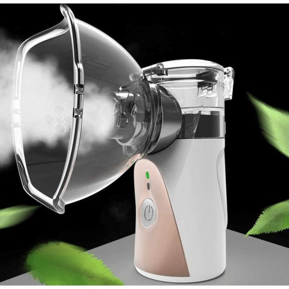 White Portable Two Mode Mesh Nebulizer