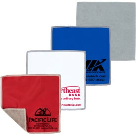 """2-in-1 Microfiber Cloth and Towel (6"""" x 6"""")"""