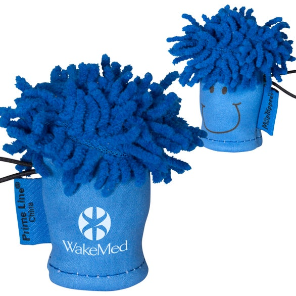 Blue MopTopper Finger Puppet Screen Cleaner