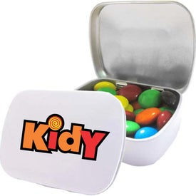 Domed Tins with M&Ms