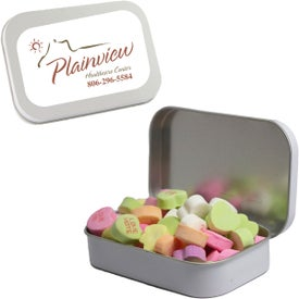 Large Mint Tin with Conversation Hearts