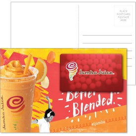 Post Card with Rectangle Credit Card Mints