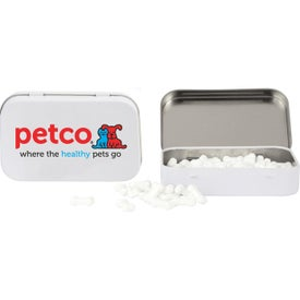 Rectangular Tin with Bone Shaped Mints