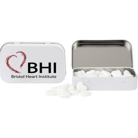 Rectangular Tin with Heart Shaped Mints