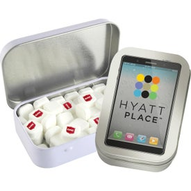 Rectangular Tin with Imprinted Square Mints