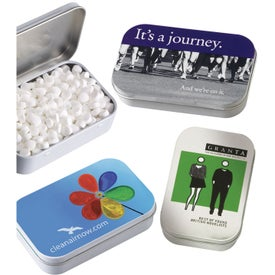 Rectangular Tin with MicroMints (2 Oz.)