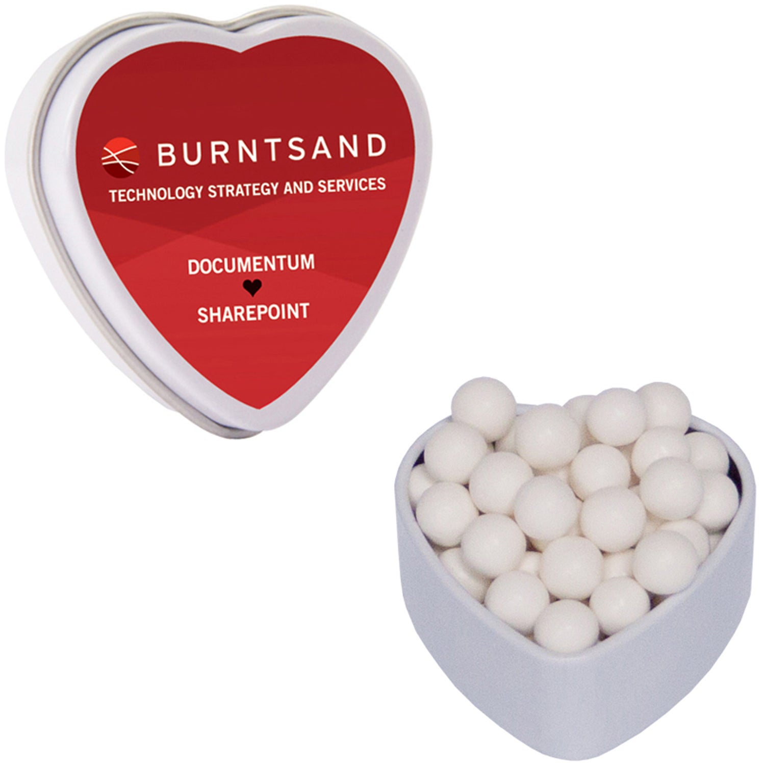 Candy Filled Heart Tin (Small)