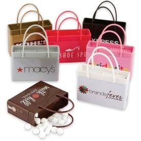 White Shopping Bag Mint Tin