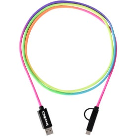 3-In-1 Rainbow Braided Charging Cable (5 Feet)