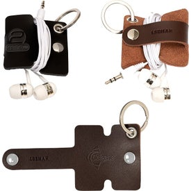 Leeman Genuine Leather Cord Organizers with Snap