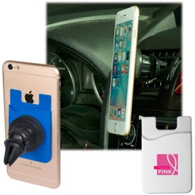 Magnetic Car Phone Holder with Phone Pocket