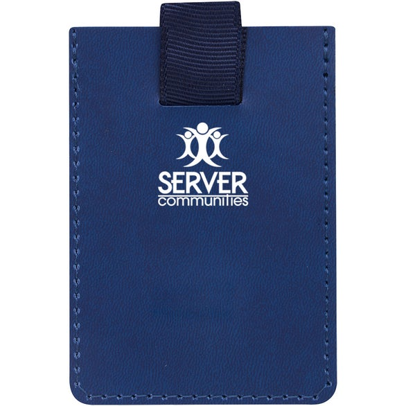 Navy Blue RFID Data Blocker Phone Wallet
