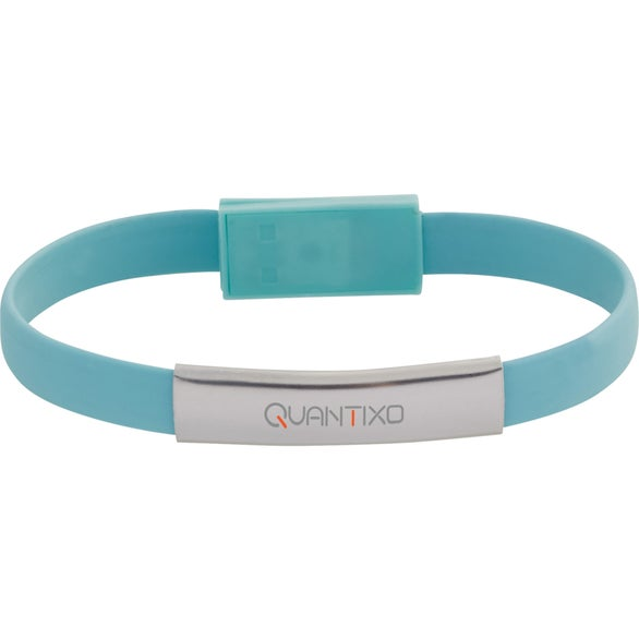 Mint Green Savvy 2-In-1 Charging Cable Bracelet
