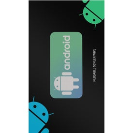 "Screen Cleaner Sticker with Backer Card (2"" x 1"")"