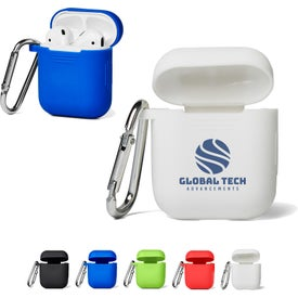 Silicone Earbud Cases with Carabiner