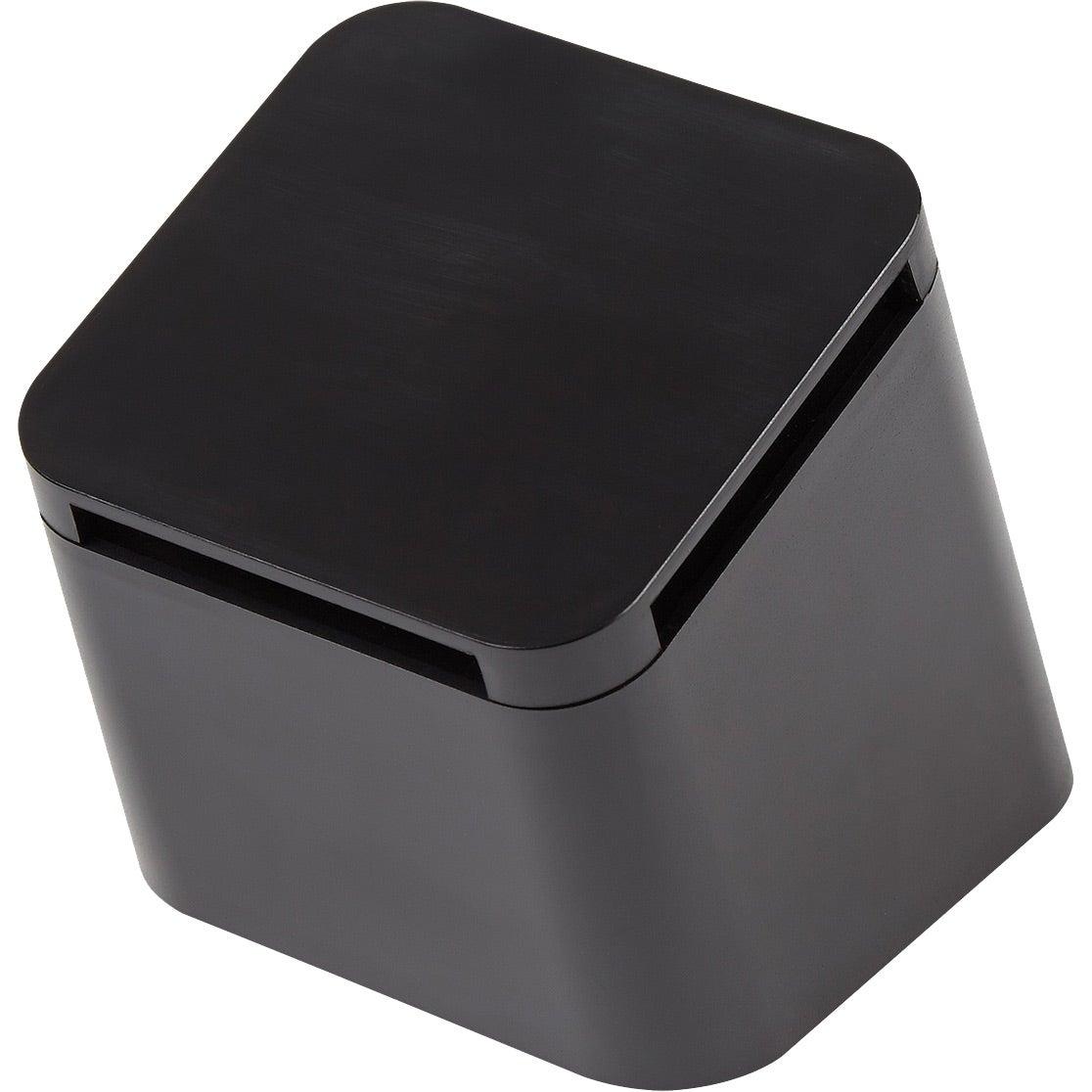 Wireless Speakers For Office On Black Slanted Cube Wireless Speaker Promotional Speakers With Custom Logo For
