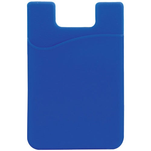Blue Slim Silicone Smartphone Mobile Wallet