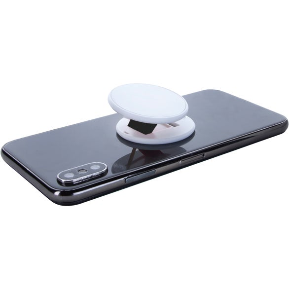 White / Black Slim Socket Phone Grip and Stand