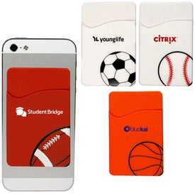 Sport-Themed Silicone Phone Pocket