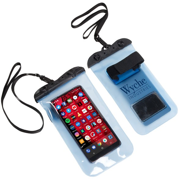 Translucent Blue Touch-Through Waterproof Phone Pouch