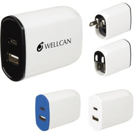UL Listed 2-in-1 USB Type C Wall Adapter