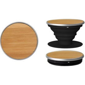 Wood PopSocket Smartphone Grip Stand (Ink Imprint)