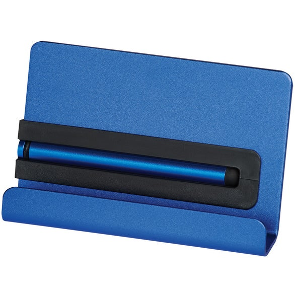 Blue Aluminum Phone Stand with Stylus