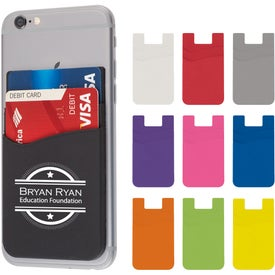 Dual Pocket Silicone Phone Wallets (2.25