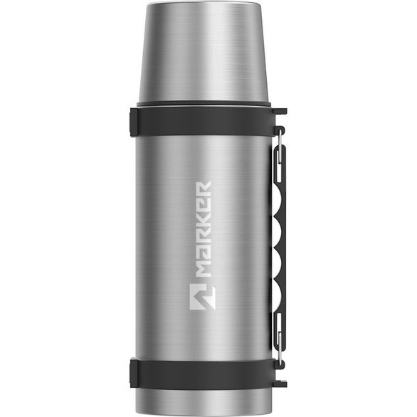 Silver Thermo Café Double Wall Stainless Steel Beverage Bottle