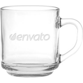 Capri Glass Coffee Mugs (10 Oz.)