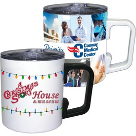 Revolution Coffee Mugs with Lid (15 Oz., Full Color Logo)