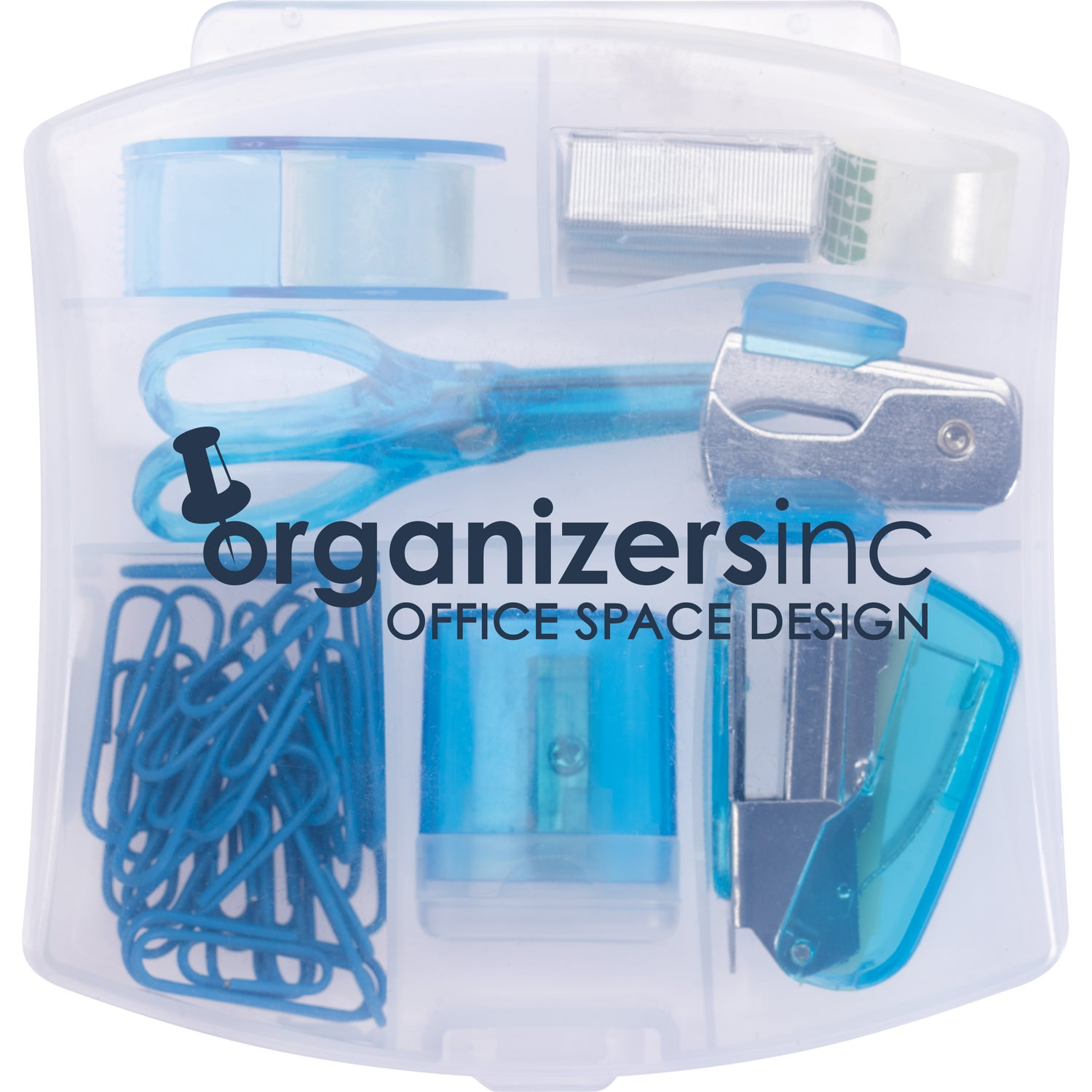 Clear Blue 10 In 1 Office Supply Kit Company