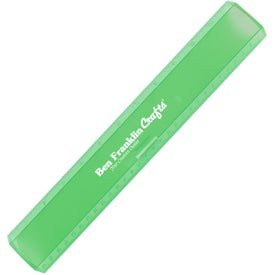 """12"""" Leading Edge Ruler Branded with Your Logo"""