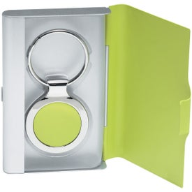 Imprinted 2 In 1 Key Tag / Business Card Holder