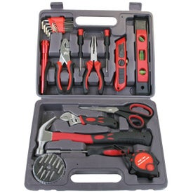 35 Piece Deluxe Tool Set Printed with Your Logo