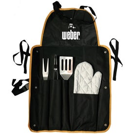 4 Piece BBQ Apron Set