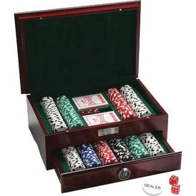 500 Piece Executive Poker Set with Your Slogan