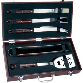 Imprinted 5 Piece Executive Barbecue Set