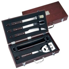 Custom 5 Piece Executive Barbecue Set