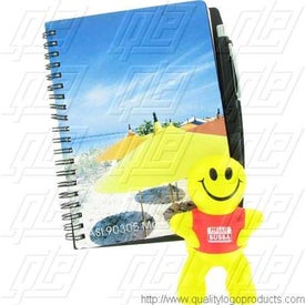 "Logo 5"" x 7"" Four Color Process Imprint Notebook"