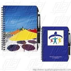 "5"" x 7"" 4 Color Process Imprint Notebook"