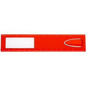 """Promotional 6"""" Magnifier Ruler With Bookmark"""