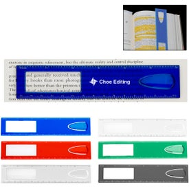 """Monogrammed 6"""" Magnifier Ruler With Bookmark"""