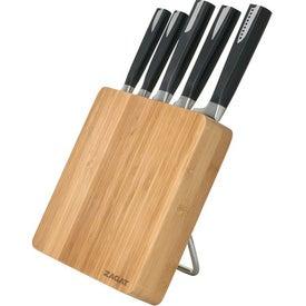 6 Piece Bamboo Knife Block Set