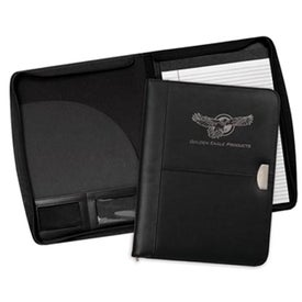 Achiever Zippered Leather Padfolio