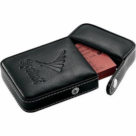 Printed Alicia Klein Flip Top Business Card Holder